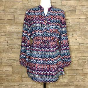 Stella Tweed multicolour tunic blouse